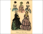 Evening and day dresses, 1844