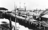 Crawford, Harringtons and Yesler's Wharves, 1882