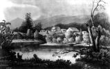 Coeur d'Alene Mission on the Ignatus River as it appeared in 1853