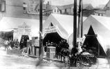 Businesses housed in tents after the Seattle fire June 6, 1889