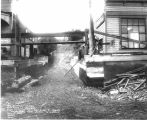 An alley between 1st St. and Front St., during regrade project, Port Angeles, 1914.