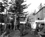 Klondikers waiting in line at the post office, Skagway, ca. 1898