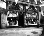 Goodyear Raincoat Co. storefront at 614 2nd Ave. decorated for the Golden Potlatch celebration,...