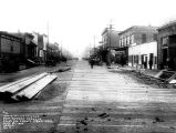 Looking east on Front St. from Oak., Port Angeles, 1914.