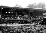 Grandstand and race track at The Meadows, August 10, 1902