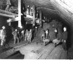 Construction of Great Northern Railroad tunnel beneath downtown Seattle.
