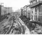4th Ave. showing regrade work, Seattle., 1908.