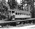 """Seeing Seattle"" streetcar of Seattle Electric Co., Woodland Park, Seattle."