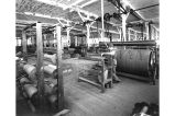Seattle Woolen Mill Co. interior, showing warp dresser.