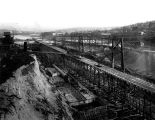 The Lake Washington Ship Canal locks under construction, Seattle, 1913.