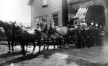 Horse-drawn steam pumping engine, Seattle Fire Department, 2nd Ave. between Cherry St. and...