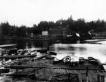 Butler Construction Co., Salmon Bay, construction of piers for Great Northern Railway Bridge,...