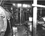 Engine room of the Glacier Fisheries Co. fish processing plant, location not identified, 1913.