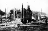 Aftermath of Seattle fire of June 6, 1889.