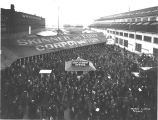 Shipyard workers leaving on strike, Skinner and Eddy Corp., Seattle, 1919.