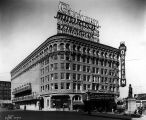 Orpheum Theatre in Times Square, intersection of 5th Ave., Stewart St. and Westlake Ave., Seattle,...