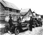 Automobiles at 100 Mile House, British Columbia.
