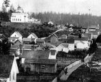 Seattle from about 3rd Ave. and Pine St. toward the southeast, ca. 1874.