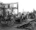 Aftermath of fire, Aberdeen, Oct. 17, 1903, showing fire apparatus and walls of Kauffman Clothing...