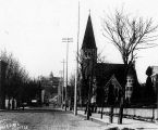 3rd Ave. , Plymouth Congregational Church to the right, Seattle.