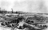 Fort Vancouver, Oregon Territory, with Hudson's Bay Co. stockade on right, U. S. Army barracks on...