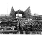 Moran Brothers Co. shipyard, Railroad Ave. S. [Alaskan Way] near S. Charles St., Seattle, showing...