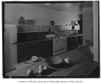 Preston residence interior showing kitchen, Seattle, 1953