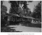 Richards residence exterior from rear, Bellevue, 1958