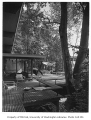 Rind residence exterior showing deck, Bellevue, 1957