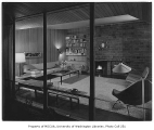 Rohrer residence interior showing living room, Seattle, 1952
