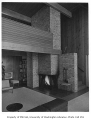 Newell residence interior showing fireplace, Seattle, 1954