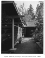 Richards residence exterior showing carport, Bellevue, 1958