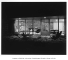 Rohrer residence exterior showing patio, Seattle, 1952