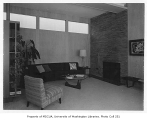 Hart residence interior showing living room, Seattle, n.d.