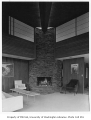 Ballard residence interior showing living room, Mercer Island, 1961