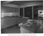Newell residence interior showing kitchen, Seattle, 1954