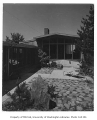 Mayer residence exterior showing patio, Seattle, 1950