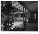 Burke residence exterior showing entrance, Seattle, 1956