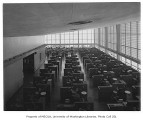 University of Washington Health Sciences Building interior showing laboratory, Seattle, 1950