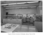 King County Central Blood Bank interior showing laboratory, Seattle, 1951