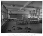 Clyde Hill Elementary School interior showing classroom, Bellevue, 1953