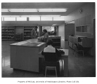 Susan Henry Library interior showing circulation desk, Seattle, n.d.