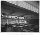 Enatai School interior showing classroom, Bellevue, 1953