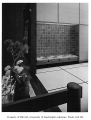 Japan Airlines office interior showing entrance, Seattle, 1959