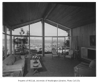 Brown residence interior showing living room, Seattle, 1952
