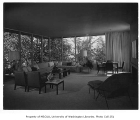 Jacobs residence interior showing living room, Seattle, 1953