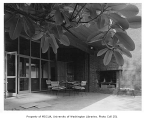Jacobs residence exterior showing patio, Seattle, 1953