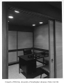 Japan Airlines office interior showing private office, Seattle, 1959