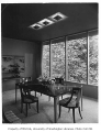 Jacobs residence interior showing dining room, Seattle, 1953