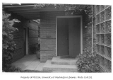 Thomas residence exterior showing entrance, Seattle, 1944